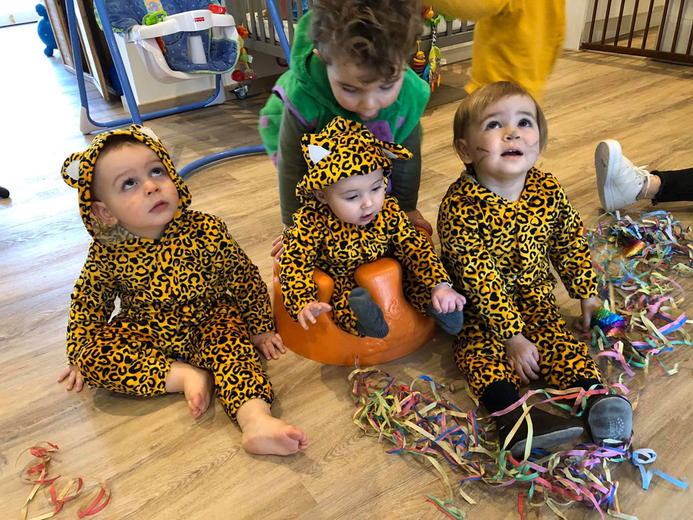 carnaval in kinderdagverblijf de boomhut